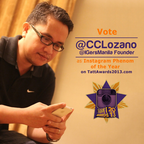CCLozano, or Daddy C, as IGers fondly call him is Finalist for #TattAwards2013 IG Phenom of the Year